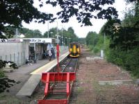 A DMU service from Glasgow Central about to draw to a halt at East Kilbride terminus on 21 August 2006.<br><br>[John Furnevel&nbsp;21/08/2006]