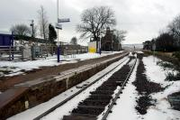 Looking south from the level crossing at Kinbrace.<br><br>[Ewan Crawford&nbsp;13/03/2006]
