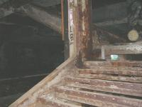 Remains of the northbound platform stairwell.. notice the concrete infill blocking entrance/exit<br><br>[Colin Harkins&nbsp;09/07/2006]