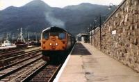 26.026 leaves for Inverness. The dark Cuillins are the magnificent backdrop.<br><br>[Brian Forbes&nbsp;14/08/1983]