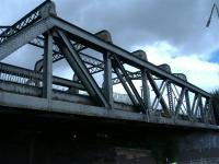 The disused railway bridge over Duke Street across from the Forge Shopping Centre.<br><br>[Colin Harkins&nbsp;29/08/2006]