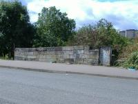 The remains of an overbridge near to the Parkhead Bus Garage.<br><br>[Colin Harkins&nbsp;29/08/2006]