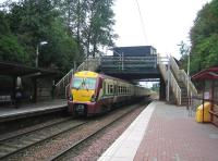 A westbound service leaves Blairhill station in August 2006.<br><br>[John Furnevel&nbsp;11/08/2006]