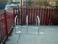 New cycle hoops at Yoker.<br><br>[First ScotRail&nbsp;//2006]
