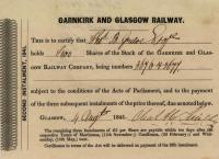 Second call for the Garnkirk and Glasgow Railway Shares 1841.<br><br>[Ian Dinmore&nbsp;11/09/2001]