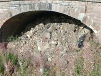 Not much left of the old railway except this piece of evidence<br><br>[Colin Harkins&nbsp;31/08/2006]