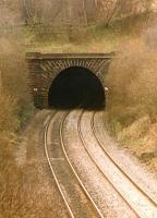 Abronhill tunnel, a mile north of Cumbernauld. This tunnel was removed circa 2000.<br><br>[Brian Forbes /04/2002]
