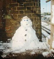 Sometimes, Just Sometimes the madness got the better of you!!! My sad try of building a snowman on the middle staircase of the box....<br><br>[Colin Harkins&nbsp;//1998]