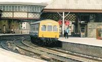 Afternoon local train from Arbroath terminating at Perth in 1985.<br><br>[Brian Forbes&nbsp;//1985]