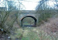 Bridge carrying Industry Road in Kirkintilloch. According to the Kirkintilloch Town Plan of 1859 the building you see is the United Original Secession Manse <br><br>[Colin Harkins&nbsp;09/04/2006]