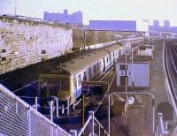 First train is the 0639 to Hyndland. At that time it arrived ECS because of overnight vandalism.<br><br>[Brian Forbes&nbsp;/05/1990]