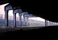 Looking west from the mouth of the tunnel toward the present day station. The Supports hold London Road above.<br><br>[Colin Harkins&nbsp;29/01/2006]
