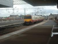 318257, at the rear of a two unit class 318 train, departing Paisley Gilmour Street for Glasgow<br><br>[Graham Morgan&nbsp;12/09/2006]