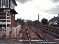 Looking east from the signal box and crossing. Platforms and footbridge still in existance.<br><br>[Brian Forbes&nbsp;//2006]