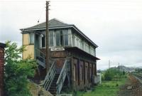 View of the cabin on the west side of the main line, south of Stirling. Unfortunately it has succumbed to modernisation, gone.<br><br>[Brian Forbes&nbsp;//1988]