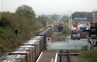 The beautifully straight nature of the GCRs extension to London is obvious in this view looking north at the gypsum works at Rushcliffe Halt.<br><br>[Ewan Crawford&nbsp;11/09/2006]