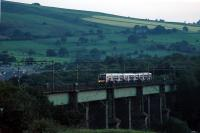 An evening Glossop service crosses Dinting Viaduct.<br><br>[Ewan Crawford&nbsp;10/09/2006]