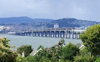 A view of the Tay Bridge taken from near Wormit on the Fife side of the Tay.<br><br>[Adrian Coward&nbsp;10/08/2006]