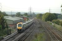Fast moving service runs north past the remains of Kegworth station.<br><br>[Ewan Crawford&nbsp;12/09/2006]