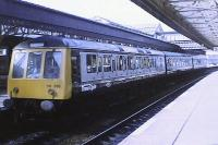 A seldom photographed class 116 DMU at Stirling in 1980, with the first Greater Glasgow/Trans-Clyde double G logo.<br><br>[Brian Forbes&nbsp;//1980]