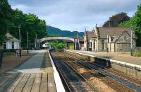 Pitlochry - view north, August 1989.<br><br>[John McIntyre&nbsp;17/08/1989]