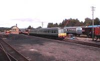 View of the sidings and signal box. Taken from the 1445 service from Aviemore.<br><br>[Brian Forbes&nbsp;26/09/2006]
