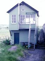 Each crossing point on the old HR had two cabins. This is the south box at Dingwall which was removed when RETB signalling replaced all the cabins north of Inverness.<br><br>[Brian Forbes&nbsp;/05/1983]