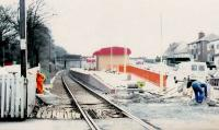 The recently opened Balloch station almost completed in October 1989. The former Balloch Central station across the Main Street behind camera will be replaced soon, and the level crossing removed.<br><br>[Brian Forbes&nbsp;/10/1988]