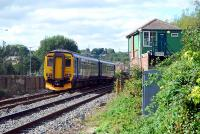 Westbound Sprinter entering Blaydon. The box is aligned to the closed and lifted Blaydon-Newcastle route.<br><br>[Ewan Crawford 26/09/2006]