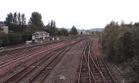 View to north with Perth main line on the left and the Alloa line to right.<br><br>[Brian Forbes&nbsp;29/09/2006]