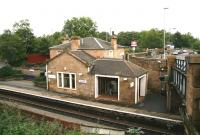 Buildings on the Edinburgh bound platform at Polmont in September 2006, looking north.<br><br>[John Furnevel&nbsp;/09/2006]