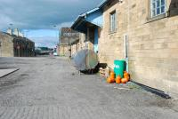 Hexham goods shed and water tank, looking west to the station entrance.<br><br>[Ewan Crawford&nbsp;26/09/2006]