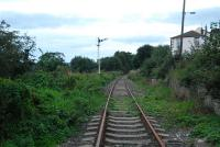 Witton-le-Wear looking west towards Wolsingham and Wearhead from the level crossing in September 2006. The station was situated behind the camera.<br><br>[Ewan Crawford&nbsp;26/09/2006]