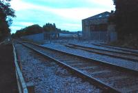 The point where the railway depot at Wolsingham Steelworks joins the line.<br><br>[Ewan Crawford&nbsp;26/09/2006]