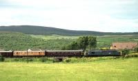Class 37 heads north from Aviemore on 05 July 1991 with the Royal Scotsman<br><br>[John McIntyre&nbsp;05/07/1991]
