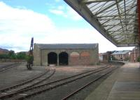 View north along platform 3 at Arbroath in 2006 showing the former goods facilities to the west of the station.<br><br>[John Furnevel&nbsp;09/08/2006]