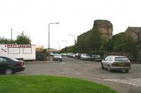 Looking east from Tower Street in September 2006 across Constitution Street towards the site of South Leith station. Opened by the E&D in 1832 as Leith, the name was changed to South Leith in 1859 with final closure to passengers taking place between 1903 - 1905. [See image 27583]<br><br>[John Furnevel&nbsp;12/09/2006]