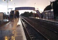 Looking West from Platform 1. Believe it or not the Sun was shining<br><br>[Colin Harkins&nbsp;03/10/2006]