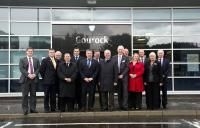 VIPs gathered at Gourock on 1 August 2012 for the official opening of the new station [see news item].<br><br>[ScotRail&nbsp;01/08/2012]
