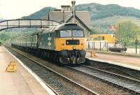 Low HR platforms still exist at Dunkeld, see the small portable steps.<br><br>[Brian Forbes&nbsp;//1987]