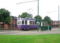 Restored ex-Graz Tramways 225 of 1949 in use on the internal passenger service within the grounds of Summerlee Heritage  Museum, Coatbridge in August 2006, alongside the main entrance. <br><br>[John Furnevel&nbsp;29/08/2006]