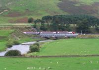 A southbound Pendolino crosses the Clyde at Crawford in October 2006 bound for Euston.<br><br>[John Furnevel&nbsp;11/10/2006]