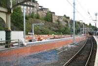 Progress at Waverley 8 October 2006. View east from the North Berwick platform across the newly extended bay towards ongoing work on platform 1.<br><br>[John Furnevel&nbsp;08/10/2006]