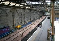 The southside bypass line at Waverley has now been removed between the central crossover and the west end of the station. This is the area which will be occupied by the new southside through platform. <br><br>[John Furnevel&nbsp;08/10/2006]