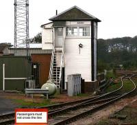 Annan Signal Box looking north in October 2006 [see image 36748].<br><br>[John Furnevel&nbsp;18/10/2006]
