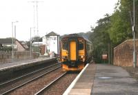 A Glasgow Central - Carlisle train arriving at Annan on 12 October 2006.<br><br>[John Furnevel&nbsp;12/10/2006]