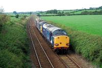 A trio of DRS locomotives pass Dalston heading to Carlisle.<br><br>[Ewan Crawford&nbsp;27/09/2006]