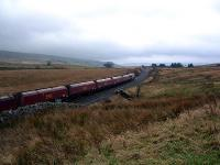 Coal train running south at Ais Gill Summit.<br><br>[Beth Crawford //2005]