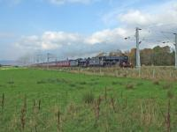 45407 and 62005 running to time west of Cardross with emcars from Fort William to Carnforth<br><br>[John Robin&nbsp;14/10/2006]