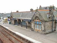 Brora station building boarded up and a bit rundown. 16/10/06<br><br>[John Gray&nbsp;16/10/2006]